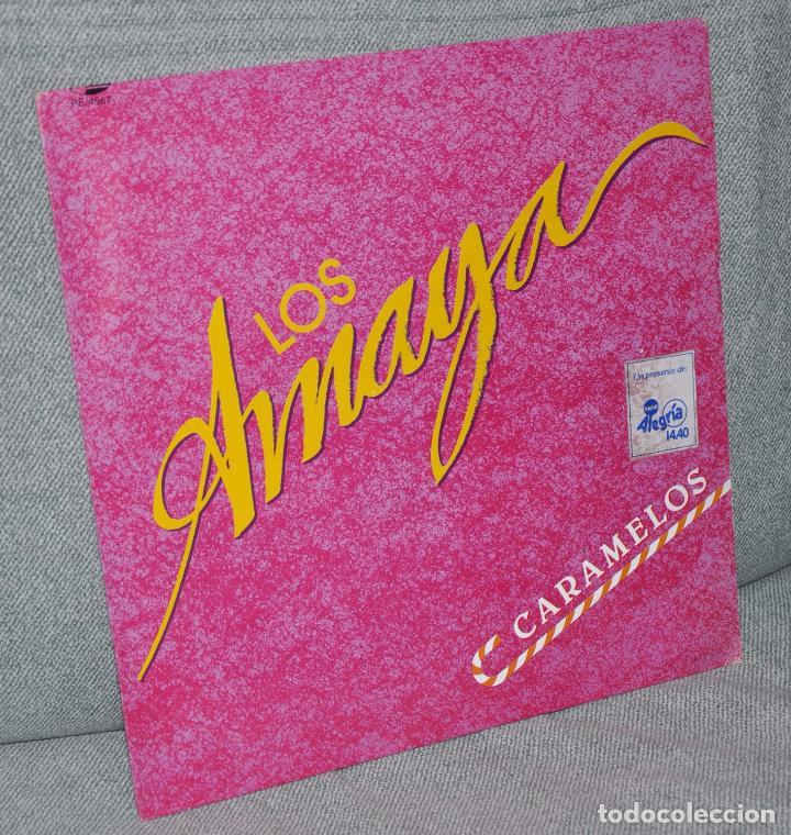 """LOS AMAYA - MAXI-SINGLE VINILO PROMOCIONAL 12"""" - CARAMELOS - EDITADO EN MÉXICO - MUSIVISA 1989 (Música - Discos de Vinilo - Maxi Singles - Flamenco, Canción española y Cuplé)"""