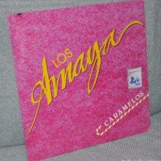 """Discos de vinilo: LOS AMAYA - MAXI-SINGLE VINILO PROMOCIONAL 12"""" - CARAMELOS - EDITADO EN MÉXICO - MUSIVISA 1989. Lote 99206547"""