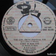 Discos de vinilo: BOLOU - EP SPAIN - PROMO - THE GIRL FROM IPANEMA - BARCLAY SBGE 83.185. Lote 99228239