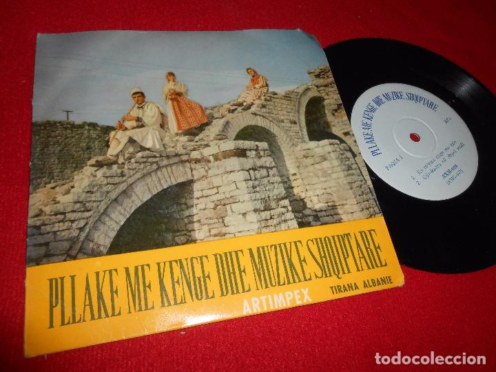 PLLAKE ME KENGE DHE MUZIKE SHOIPTARE KU MERZEN CJAPI ME ZILE +3 EP 196? ALBANIA TIRANA FOLK FAQJA1 (Música - Discos de Vinilo - EPs - Étnicas y Músicas del Mundo)