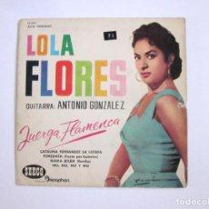 Discos de vinilo: LOLA FLORES JUERGA FLAMENCA SEECO DISCOPHON EP 1961. Lote 99277831