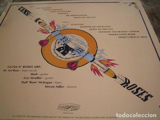 Discos de vinilo: GUNS N'ROSES - 44 CALIBER ************** RARO LP ITALIANO LIVE 1991 - Foto 2 - 99290075