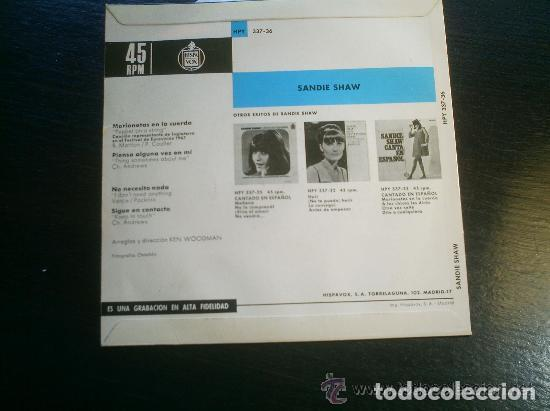 Discos de vinilo: SANDIE SHAW EUROVISION 67 - Foto 2 - 99300683