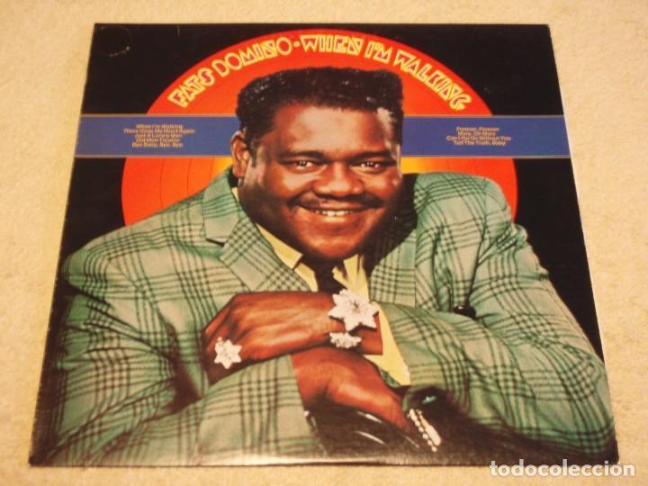 FATS DOMINO ( WHEN I'M WALKING ) USA-1979 LP33 COLUMBIA (Música - Discos - LP Vinilo - Rock & Roll)