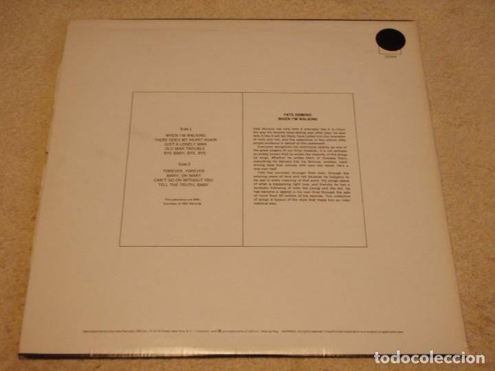 Discos de vinilo: FATS DOMINO ( WHEN IM WALKING ) USA-1979 LP33 COLUMBIA - Foto 2 - 99309587