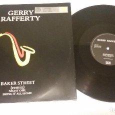 Discos de vinilo: GERRY RAFFERTY - BAKER STREET (REMIX). Lote 99316391