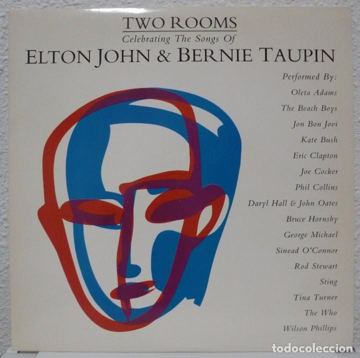 TWO ROOMS - ELTON JOHN & BERNIE TAUPIN (DOBLE LP MERCURY 1991 ESPAÑA) (Música - Discos - LP Vinilo - Pop - Rock - New Wave Extranjero de los 80)