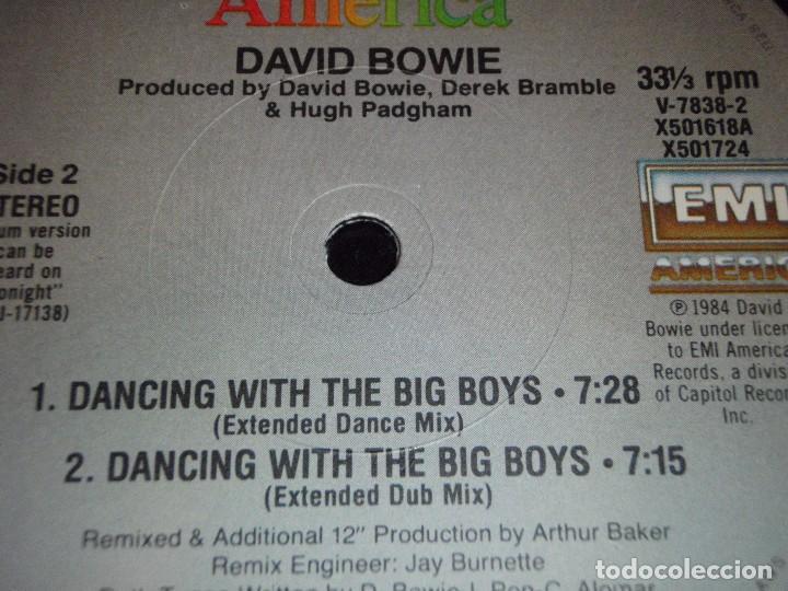 Discos de vinilo: David Bowie – Blue Jean USA 1984 EMI America Maxi 33 - Foto 4 - 99371699