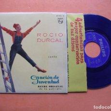 Discos de vinilo: ROCIO DURCAL *** BANDA ORIGINAL DE LA PELICULA CANCION DE JUVENTUD CON FUNDA ORIGINAL NUEVO¡¡. Lote 99372739
