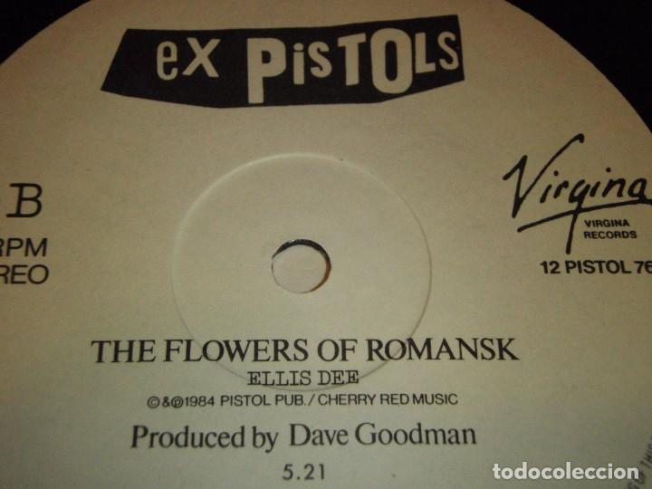 Discos de vinilo: THE EX PISTOLS RECORDED 1976 (LAND OF HOPE & GLORY - THE FLOWERS OF ROMANSK) 1984-FRANCE MAXI45 - Foto 4 - 99381707