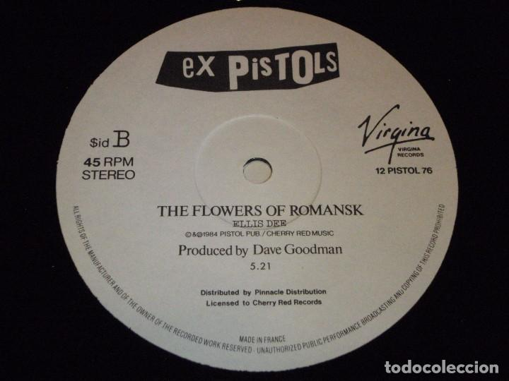 Discos de vinilo: THE EX PISTOLS RECORDED 1976 (LAND OF HOPE & GLORY - THE FLOWERS OF ROMANSK) 1984-FRANCE MAXI45 - Foto 5 - 99381707