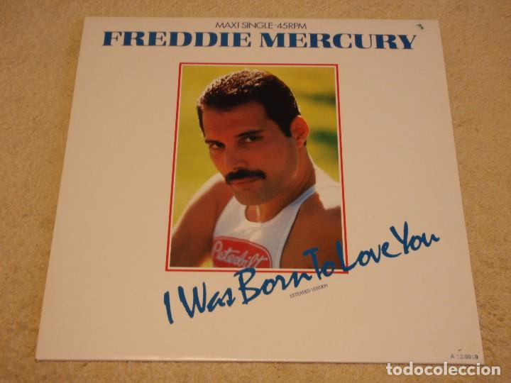 FREDDIE MERCURY – I WAS BORN TO LOVE YOU (EXTENDED VERSION) MAXI 45 HOLANDA 1985 CBS (Música - Discos de Vinilo - Maxi Singles - Pop - Rock - New Wave Internacional de los 80)