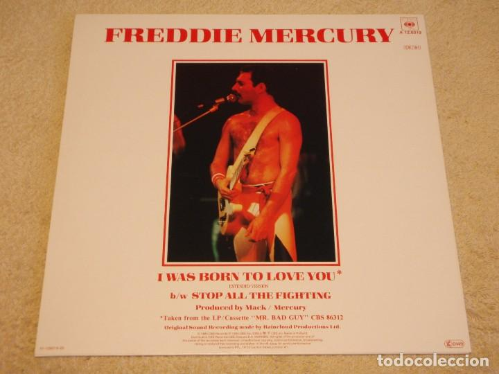 Discos de vinilo: Freddie Mercury – I Was Born To Love You (Extended Version) Maxi 45 Holanda 1985 CBS - Foto 2 - 99382955