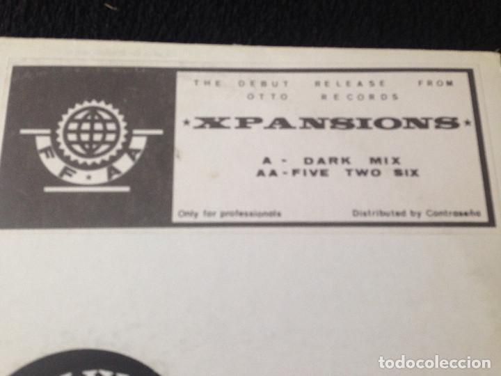 Discos de vinilo: MAXISINGLE XPASIONS - DARK MIX , FIVE TWO SIX - 1991 - Foto 2 - 99386695