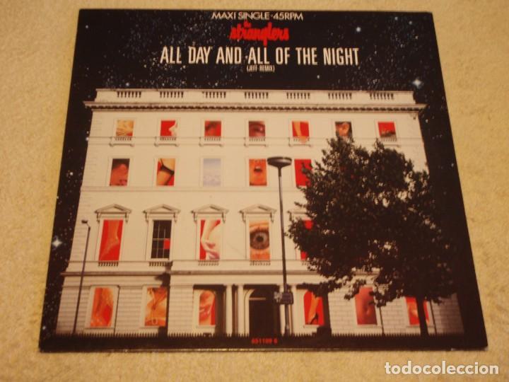 THE STRANGLERS – ALL DAY AND ALL OF THE NIGHT (JEFF REMIX) MAXI-45 HOLANDA 1987 EPIC (Música - Discos de Vinilo - Maxi Singles - Pop - Rock - New Wave Internacional de los 80)