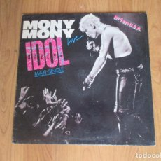 Dischi in vinile: BILLY IDOL - MONY MONY LIVE - MAXI - CHRYSALIS - SPAIN - T - . Lote 99435215