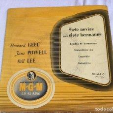 Discos de vinilo: SIETE NOVIAS PARA SIETE HERMANOS. Lote 99437531