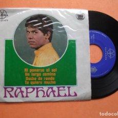 Discos de vinilo: RAPHAEL EP GAMMA HISPAVOX MEXICO AL PONERSE EL SOL + UN LARGO CAMINO +2 PEPETO. Lote 99437811