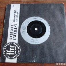Discos de vinilo: STERLING VPID - RUNAWAY GIRL - SINGLE LONDON AÑO 1988 - EDICION INGLESA. Lote 99450463