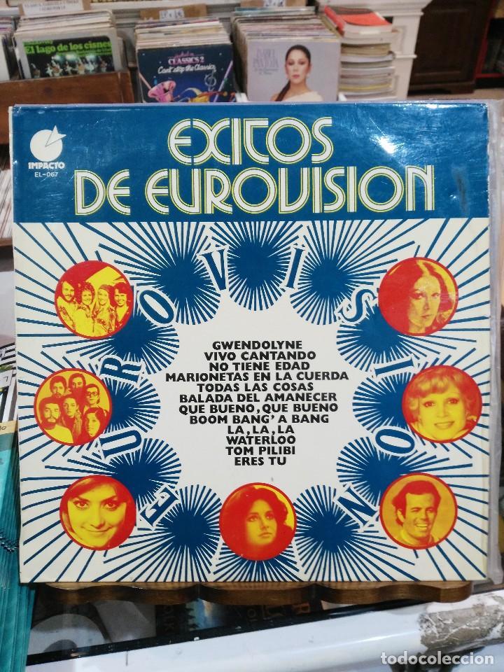 ÉXITOS DE EUROVISION - GWENDOLYNE, ERES TÚ, TOM PILIBI, LA LA LA, ... LP. DEL SELLO IMPACTO DE 19740 (Música - Discos - LP Vinilo - Festival de Eurovisión)