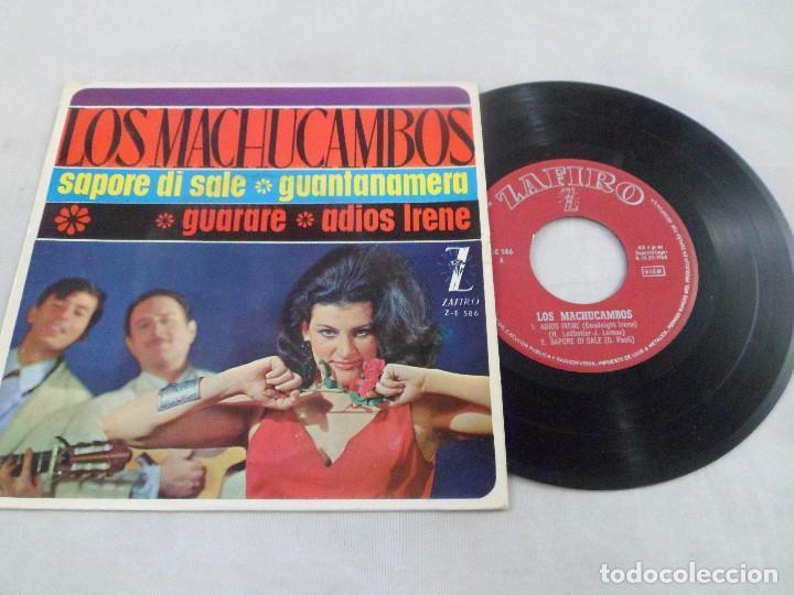EP LOS MACHUCAMBOS. SAPORE DI SALE - GUANTANAMERA - GUARARE - ADIOS IRENE (Música - Discos de Vinilo - EPs - Grupos Españoles 50 y 60)