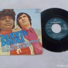 Disques de vinyle: SINGLE DANNY & DONNA. EL VALS DE LAS MARIPOSAS - DREAMS LIKE MINE. Lote 157201001