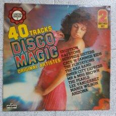 Disques de vinyle: DOBLE LP DISCO MAGIC. Lote 99498779