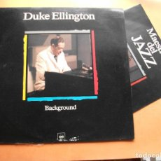 Discos de vinilo: DUKE ELLINGTON. LP BACKGROUND. MAESTROS DEL JAZZ. MADE IN SPAIN. 1988-1990. CON FASCICULO. Lote 99502487