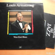 Discos de vinilo: LOUIS ARMSTRONG. LP WEST END BLUES. MAESTROS DEL JAZZ. MADE IN SPAIN. 1988-1990. CON FASCICULO. Lote 99502651