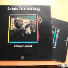 Discos de vinilo: LOUIS ARMSTRONG. LP CHICAGO CONCERT. MAESTROS DEL JAZZ. MADE IN SPAIN. 1988-1990. CON FASCICULO. Lote 99502895