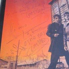 Discos de vinilo: EXCELENTE LP LA FRONTERA FIRMADO POR TODA LA BANDA. 1987. TREN DE MEDIANOCHE, ANDREU, MARMOTA, QUINO. Lote 99523431