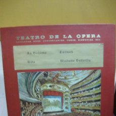 Discos de vinilo: TEATRO DE LA OPERA.(LA BOHEME,CARMEN, AIDA,MADAME BUTTERFLY) 4 LP'S.. Lote 99530271