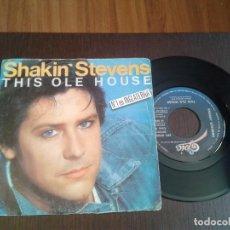 Discos de vinilo: DISCO SINGLE SHAKIN STEVENS, THIS OLE HOUSE. Lote 99539751