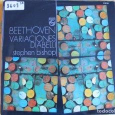 Discos de vinilo: LP - BEETHOVEN - VARIACIONES DE DIABELLI (STEPHEN BISHOP, PIANO) (SPAIN, PHILIPS 1971). Lote 99541983