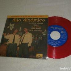 Discos de vinilo: DUO DINAMICO 7´EP EL TERCER HOMBRE + 3 TEMAS (1961) VINILO ROJO *BUEN ESTADO* RARO. Lote 99542947