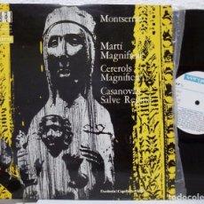 Discos de vinilo: ESCOLANIA Y CAPELLA DE MUSICA DE MONTSERRAT DOM IRENEU SEGARRA (LP VERGARA 1963). Lote 99544347