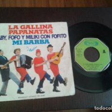 Discos de vinilo: DISCO SINGLE PAYASOS GABI,FOFO,MILIKI,LA GALLINA PAPANATAS. Lote 186764135
