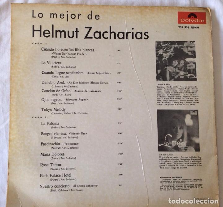 Discos de vinilo: HELMUT ZACHARIAS - LO MEJOR DE HELMUT ZACHARIAS - LP - Foto 2 - 99548983