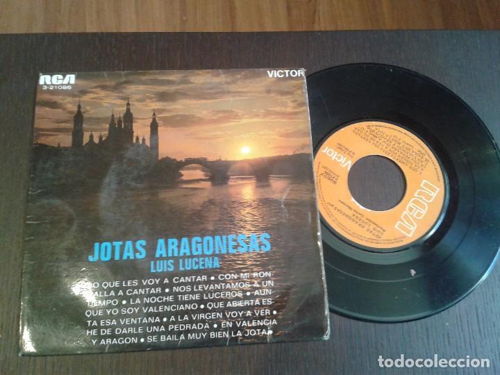 DISCO SINGLE,FOLCLORE ARAGON ,JOTAS ARAGONESAS (Música - Discos - Singles Vinilo - Otros estilos)