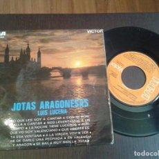 Discos de vinilo: DISCO SINGLE,FOLCLORE ARAGON ,JOTAS ARAGONESAS. Lote 99557731