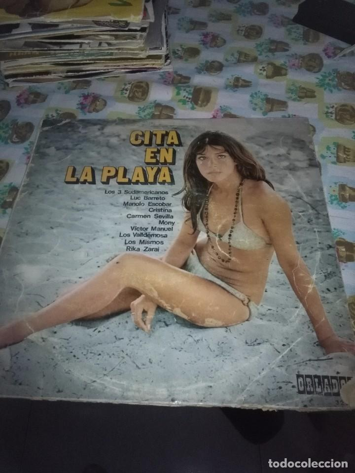 CITA EN LA PLAYA. VARIOS ARTISTA, 10 PULGADA. C15V (Música - Discos - LP Vinilo - Otros estilos)