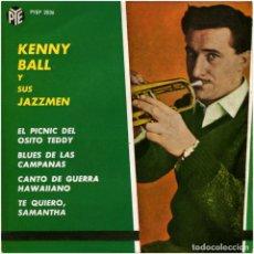 Discos de vinilo: KENNY BALL Y SUS JAZZMEN - EL PICNIC DEL OSITO TEDDY - EP SPAIN 1963 - PYE RECORDS PYEP-2036. Lote 99592263