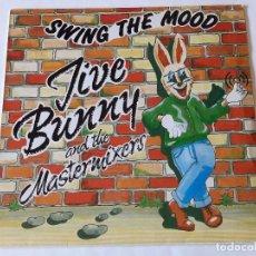 Discos de vinilo: JIVE BUNNY AND THE MASTERMIXERS - SWING THE MOOD - 1989. Lote 99649899