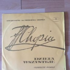 Discos de vinilo: CHOPIN : TRIO FOR PIANO, VIOLIN & CELLO OP.8 / INTRODUCTION & POLONAISE OP.3 / COMPLETE WORKS / RED. Lote 99659563