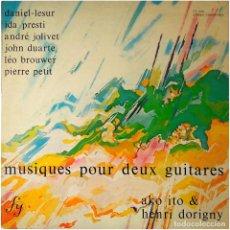 Discos de vinilo: AKO ITO & HENRI DORIGNY – MUSIQUES POUR DEUX GUITARES - LP FRANCE 1975 - FY 008. Lote 99668851