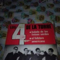 Discos de vinilo: LOS 4 DE LA TORRE. BALADA DE LOS BOINAS VERDES. MB1. Lote 99696731