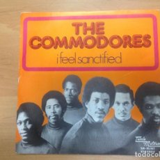 Discos de vinilo: SINGLE THE COMMODORES / I FELL SANCTIFIED EDITADO EN ESPAÑA 1974 MOVIEPLAY. Lote 99711159