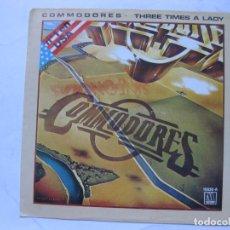 Discos de vinilo: COMMODORES - THREE TIMES A LADY - SE VENDE SOLO PORTADA (SIN VINILO EN EL INTERIOR). Lote 109792783