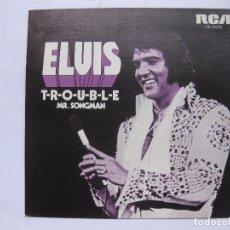 Discos de vinilo: ELVIS PRESLEY - T-R-O-U-B-L-E - SE VENDE SOLO PORTADA (SIN VINILO EN EL INTERIOR). Lote 116134718