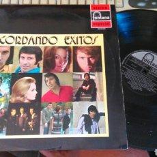 Discos de vinilo: RECORDANDO EXITOS LP 1971.DURCAL.RIOS.RAPHAEL.RARO. Lote 99721671